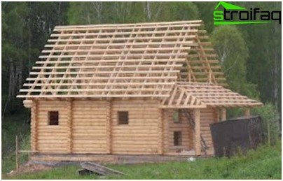 Sauna building with attic