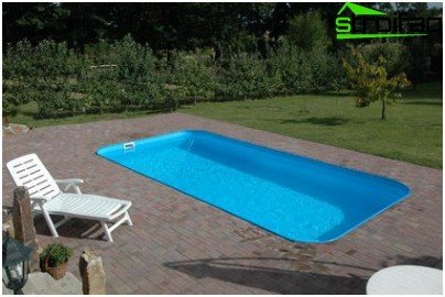 Pool polypropylene outdoors
