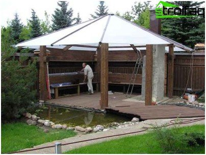 gazebo made of polycarbonate