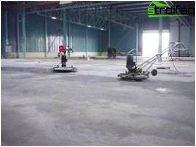 Grout concrete floor
