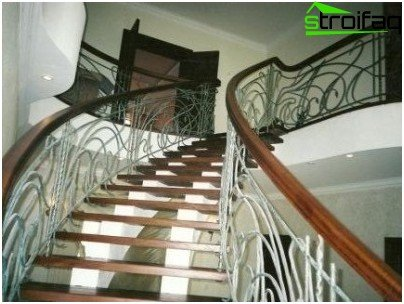 Concrete stairs in private homes