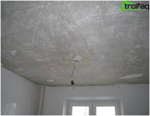 Cleaning concrete ceiling