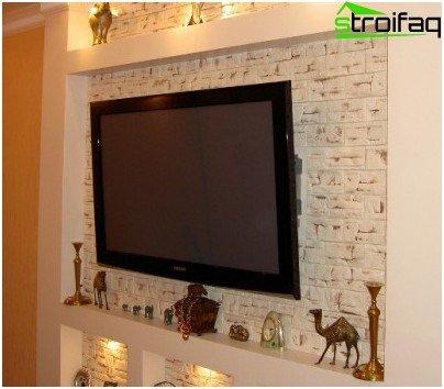 Niche plasterboard TV