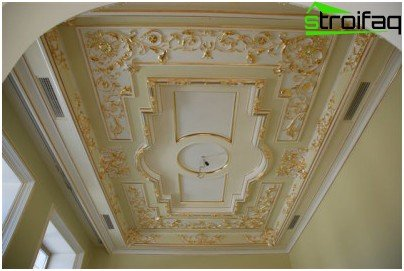 False ceiling in the rococo
