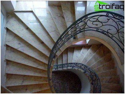 In terms of a spiral staircase can be not only circular, but oval, polygonal or quadrangular