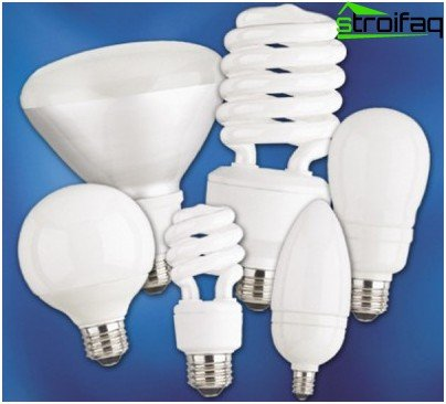 Variety of energy-saving compact fluorescent lamps