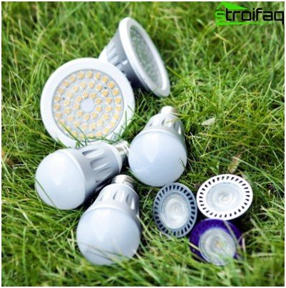 Variety of energy-saving LED lamps