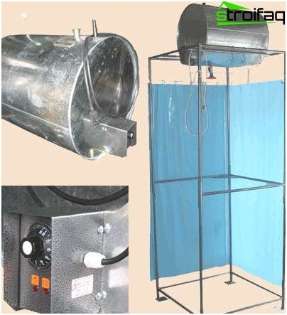 Steel tank with heater