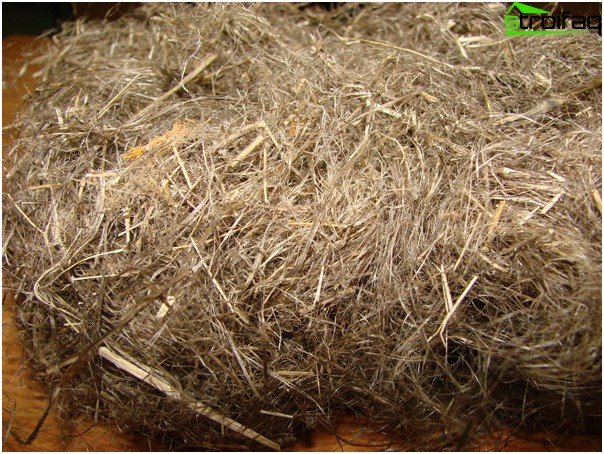 Oakum for insulation joints
