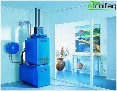 Floor-standing boiler