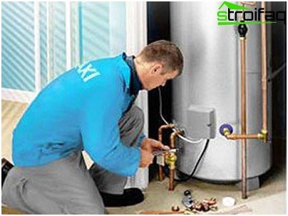 Installation of gas boiler