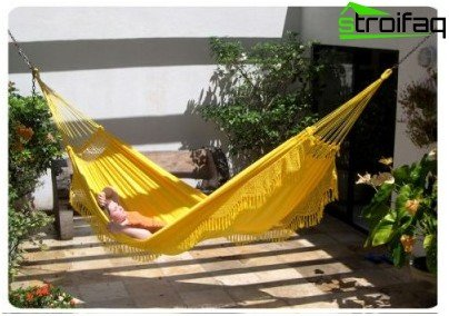 hammock on a summer residence
