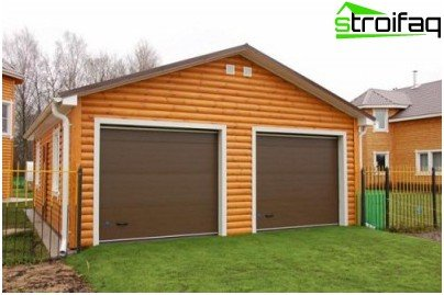 Garage built separately