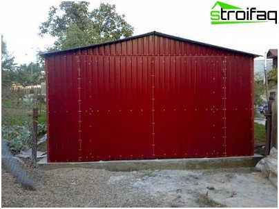 Temporary garage