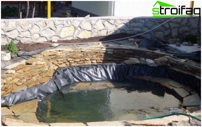 The polymeric membrane for pools