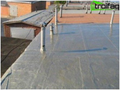Waterproofing of a garage roof
