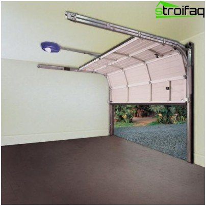 Sectional automatic garage door