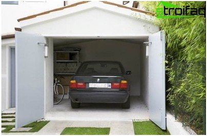 The automatic swing gates for the garage