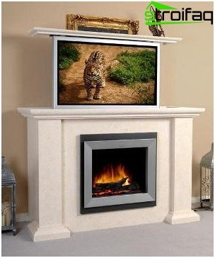 Fireplace made of plasterboard