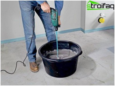Zaveshivanie self-leveling floor solution