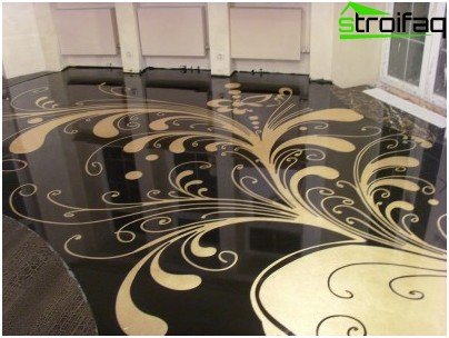 Decorative self-leveling floor