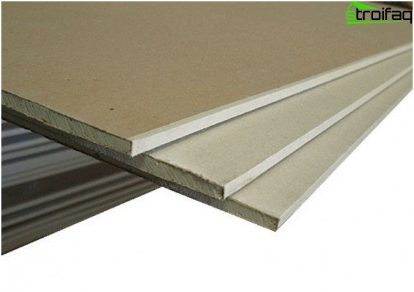 Conventional drywall sheets