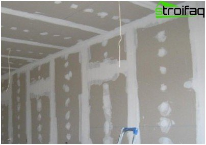Type drywall after grouting