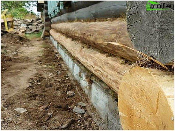 Замена фундамента под деревянным домом своими руками видео