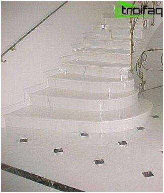 Concrete stairs marble