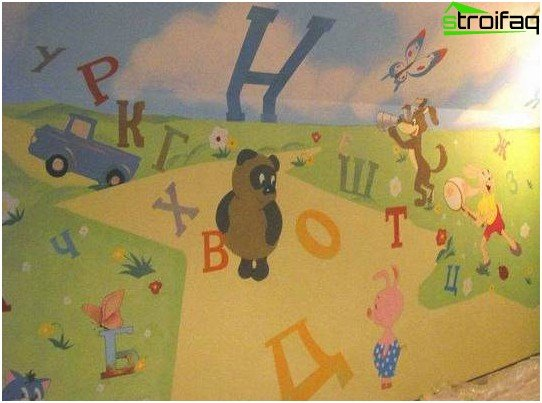 Educational children's wallpaper