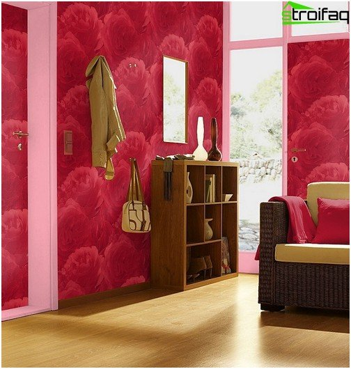 Vinyl wallpaper washable