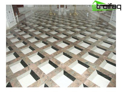 Original laying floor tiles