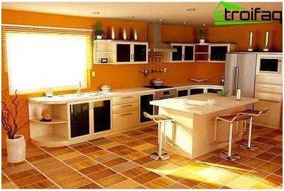 Artificial linoleum for the kitchen