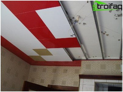 False ceiling in the kitchen