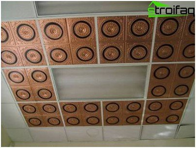 False ceiling in the bathroom