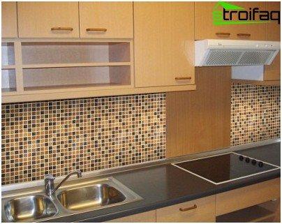 Option cladding mosaic kitchen