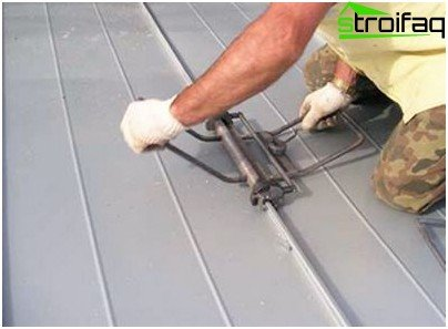 Repair seam roof