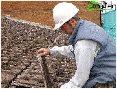 Eliminating leaks from the roof tiles