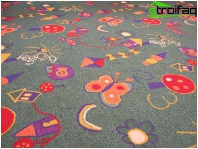 Carpeted Floor in the nursery