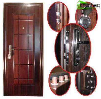 Packaging metal door