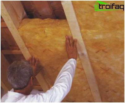 Bath roof insulation