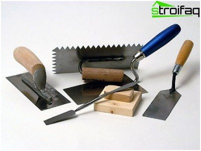 The tools needed for plaster
