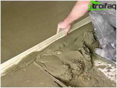 Leveling concrete base