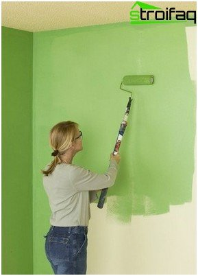 Paint the walls in the home