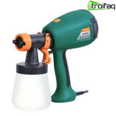 Spray gun - a tool for painting