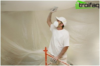 Preparation of the ceiling surface