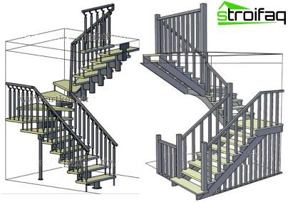 Drawing stairs to the second floor