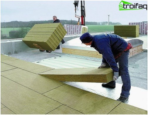 Installation of mineral wool boards