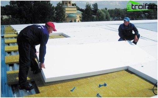 Laying polystyrene foam