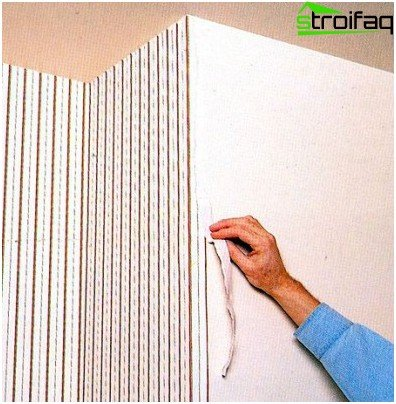 How to paste over wallpaper outer corners